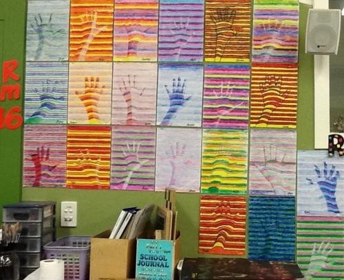 Room 16's hands.