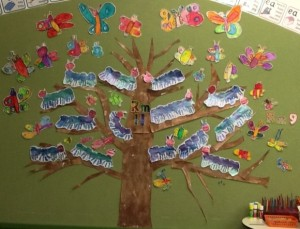 Room 11's Caterpillars and Room 9's Butterflies