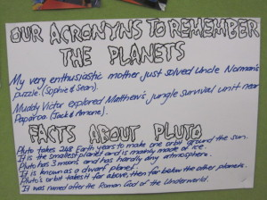 These are facts based on a reading we did about Pluto.