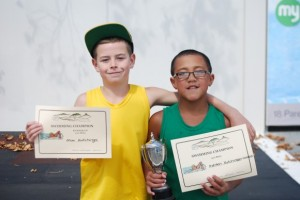 Ashton - 9 yr champion Max - runner up