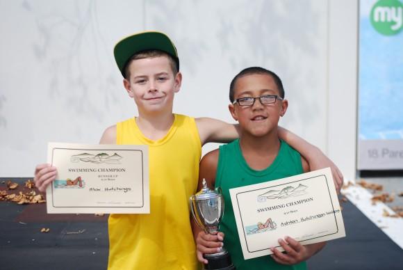 Ashton - 9 yr champion Max - runner up