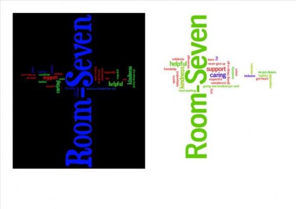 The children in Room7 brainstormed word that we feel represents us.