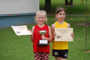 8 Year old girls  Champion - Ayla Runner up - Ema