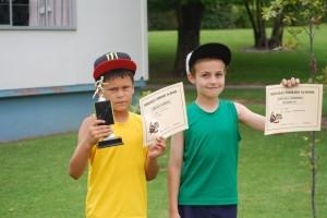 9 Year old boys  Champion - Luke Runner up - Ean