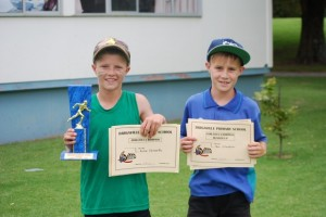 10 Year old boys  Champion - Kane Runner up - Ben