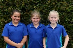 Year 5 Ella (2nd), Hayley (1st), Ayla (3rd)