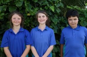 Year 5 Madison (2nd=), Danielle (1st), Thomas (2nd=)